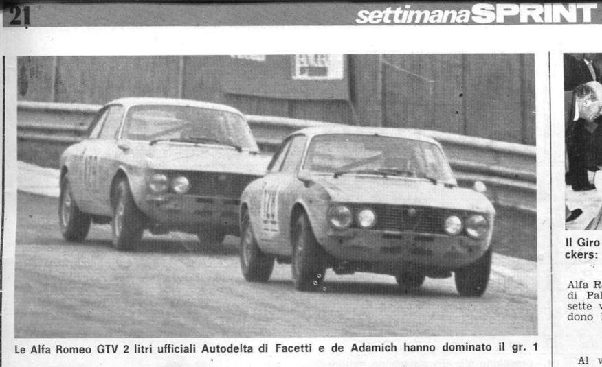 ALFA ROMEO GTV 2000 GROUP 1 EX AUTODELTA